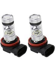 Homyl 2x H16 / H11 100W Carro De Potência LED 8000K Branco Lâmpadas De Luz De Nevoeiro