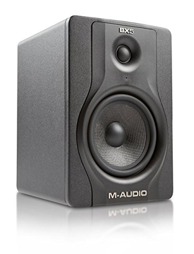 "M-Audio BX5 Carbon Black | 5"" Single Speaker Studio Monitor with Magnetic Shielding (70-watt Class A/B Power)"