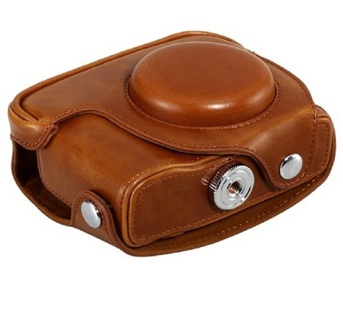 Leather Camera Case Bag for Canon Powershot G15, G16 Digital Camera Light Brown from Sunny Room