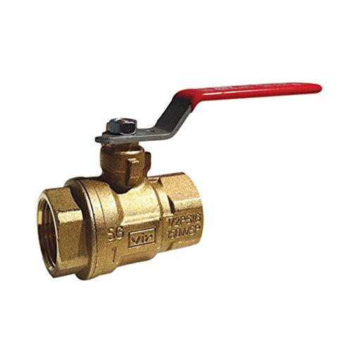 Red-White Valve 112RW5044F Industrial Full Port Ball Valve (2 Piece), 1 1/2'' by Red-White Valve
