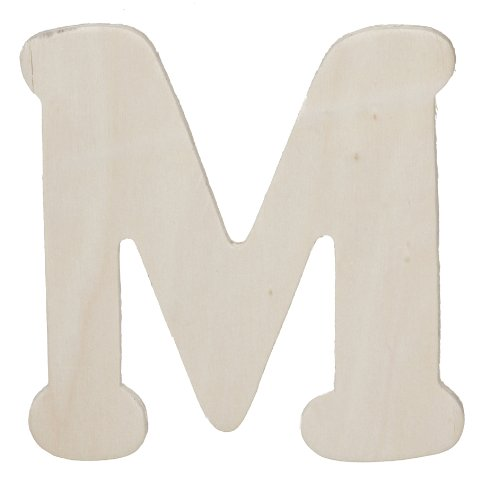 Darice 9181-M Wooden Cutout, Letter M