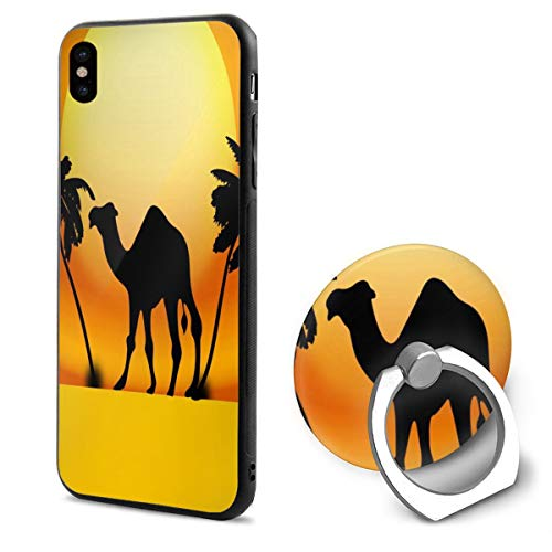 iPhone X Case Clipart - Camel Sunset Phone Holder Mobile Phone Shell Ring Bracket Cool]()