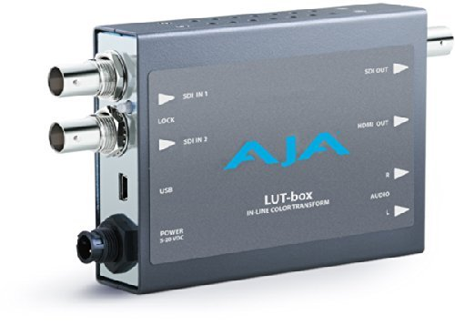 AJA LUT-box In-line Color Transform with SDI and HDMI Outputs and 3G and Dual-Link Inputs by Aja