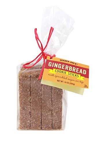 Cinnamon Sugar Biscotti (Trader Joe's Gingerbread Cookie Sticks with Sprinkled Sugar on Top, 10 oz (1 package of 8 cookies))
