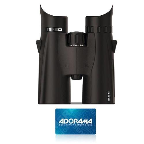 シュタイナー10 x 42 mm HX防水屋根プリズム双眼バンドルW / 50ドルAdorama GC