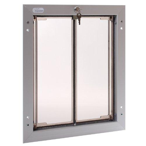 Plexidor Security Door - PlexiDor Performance Pet Doors Large Silver Door Mount