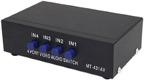 SODIAL(R) 4 Via Caja de Interruptor RCA Audio Video AV para Xbox DVD TV: Amazon.es: Informática