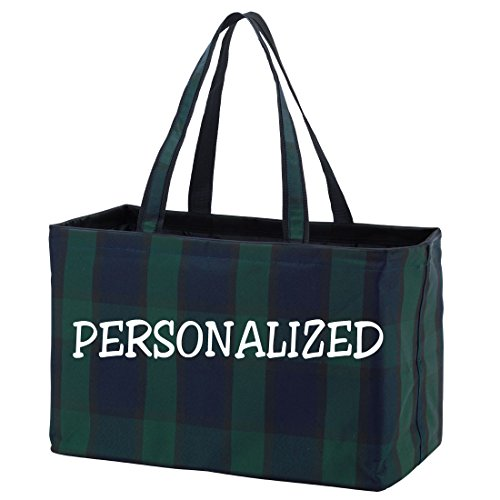 Fashion Print Ultimate Tote - Carry All Organizer Bag - A Tailgate (Plaid Tailgate)