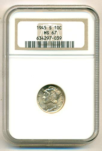 1945 S Mercury Dime MS67 NGC
