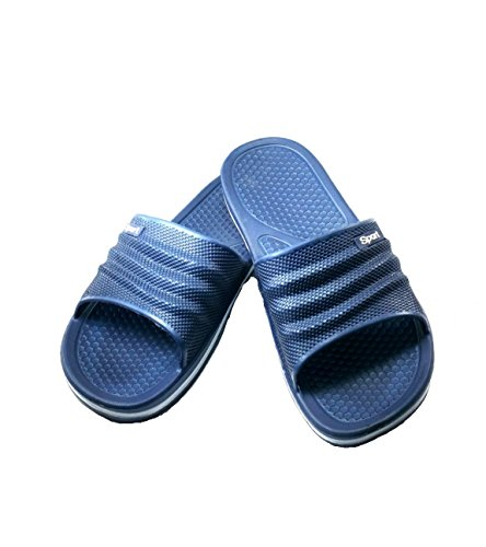 Sandali In Gomma Da Uomo Bnc Mens Sandalo Perfact Cushion Shower Beach Shoe Slip On Light Come Una Piuma Navy