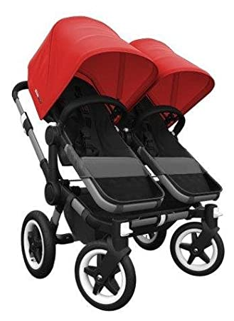 Bugaboo Donkey Complete Twin Stroller Red Black Black