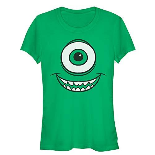 Fifth Sun Monsters Inc Juniors' Mike Wazowski Eye Kelly Green T-Shirt