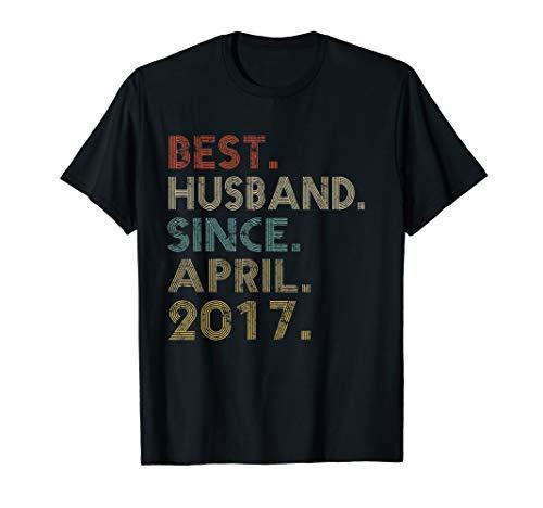 2nd Wedding Anniversary Gifts Husband Since April 2017 Tee -