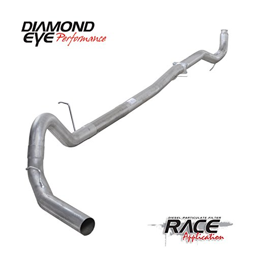 Diamond Group K4158A Exhaust Complete Systems(Kit, 4In, Down Pipe Back Dpf-Race, with Flg, Sgl Alum: 2011-2012 Duramax) (Dpf Race Pipe)