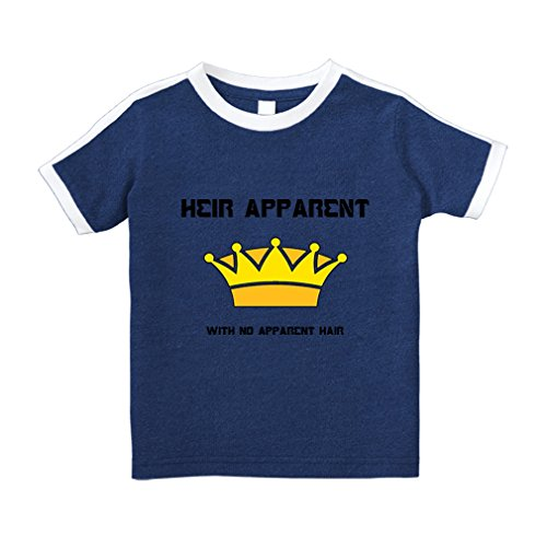 Heir Tee (Cute Rascals Crown Heir Apparent No Apparent Hair Cotton Short Sleeve Crewneck Unisex Toddler T-Shirt Soccer Tee - Royal Blue, 5/6T)
