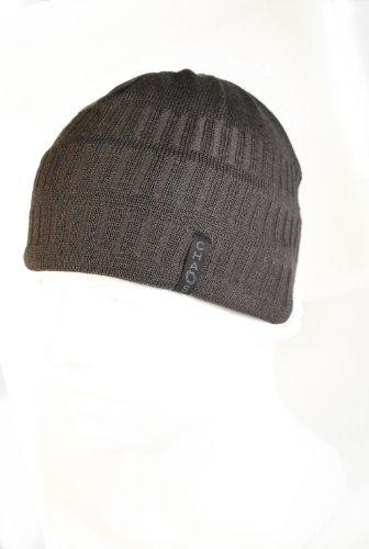 225f887dd35 Chaos Hats Men s Baton Wool Blend Beanie (Charcoal
