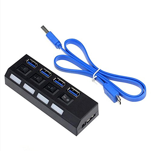 AENMIL 4 Ports USB 3.0 Hub, High Speed Computer Splitter with Individual Power Switches & LEDs, For Windows 7 / Vista / XP / 2003/2000/ME / Mac OS X and Linux Systems (Fan Blade Blower Wheel Hub Puller compare prices)