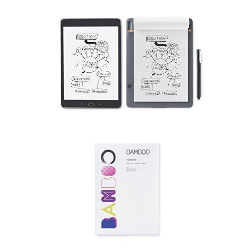 Wacom Bamboo Slate Smartpad, Small  & A5 Notepad Paper by Wacom