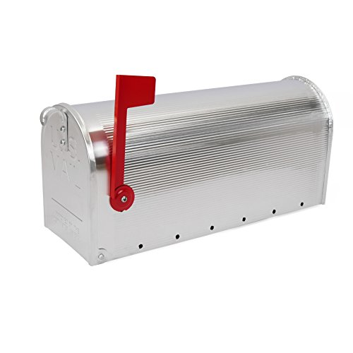 Cablematic - US Mail Mailbox for Mail Aluminium Design Postcard American) Color Silver