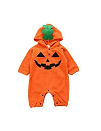 Fairy Baby Infant Baby Unisex Halloween Costume Outfit Hooded Fleece Romper Jumpsuit