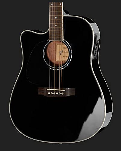Guitarra Acústica Amplificada para zurdos d-120ce-lh BK + Bolsa ...