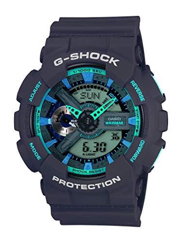 Casio Men's XL Series G-Shock Quartz 200M WR Shock Resistant Resin Color: Matte Grey (Model GA-110TS-8A2CR)
