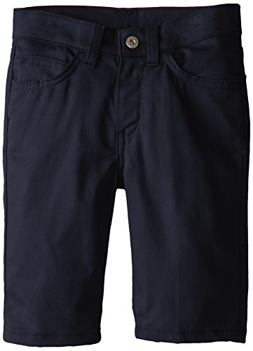 Dickies Big Girls' Skinny Fit 5-Pocket Stretch Twill Short, Dark Navy, (Dickies Girl Stretch Shorts)