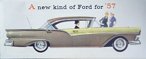 Read Online CLASSIC, FULLY ILLUSTRATED 1957 FORD PASSENGER CAR DEALERSHIP SALES BROCHURE - ADVERTISMENT Includes Custom Series, Custom 300 & Fairlaine Series, Fairlane 500 - Wagons, Convertible PDF