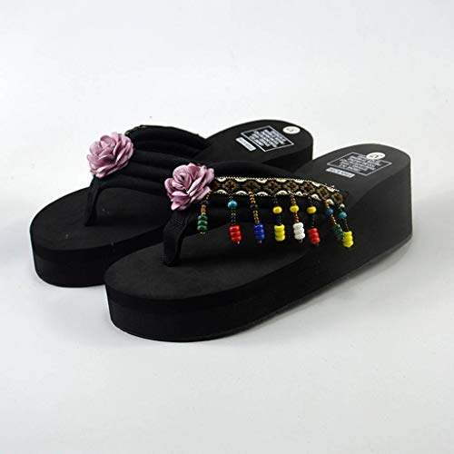 Plage Wedge Tongs Femmes Bohemia Bains Slippers Violet Chaussures Chaussons De Maison Salle fq0A5qcW