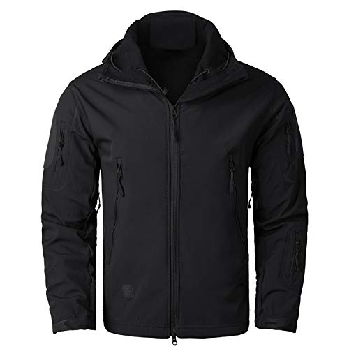 YIMANIE Men's Outdoor Rain Waterproof Soft Shell Hooded Oute