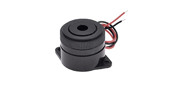 uxcell Black Housing DC 3-24V 2 Wire Industrial Electronic Continuous Sound Buzzer 105dB US-SA-AJD-39954