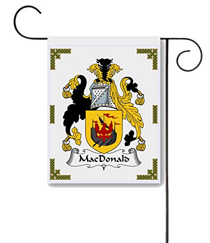 Carpe Diem Designs Macdonald Coat of Arms/Macdonald Family Crest 11 X 15 Garden Flag - Made in The U.S.A.