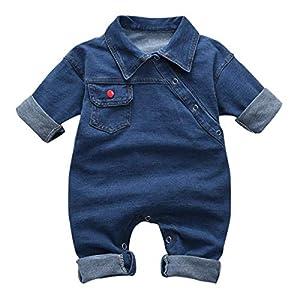 greatmtx - Tutina per neonato, in jeans 8
