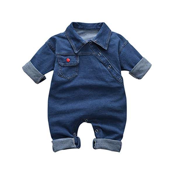 greatmtx - Tutina per neonato, in jeans 1