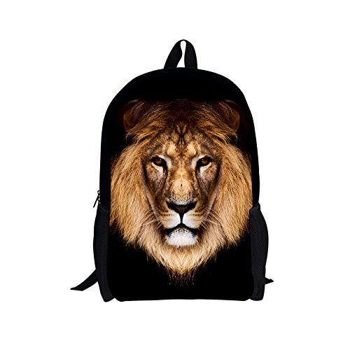 - Bigcardesigns DIY Animal Lion Design Backpack Schoolbag Book Bag for Teens