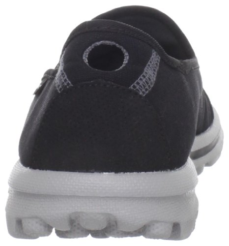 Skechers Damen Go Walk Slipper Schwarz (Bkgy)