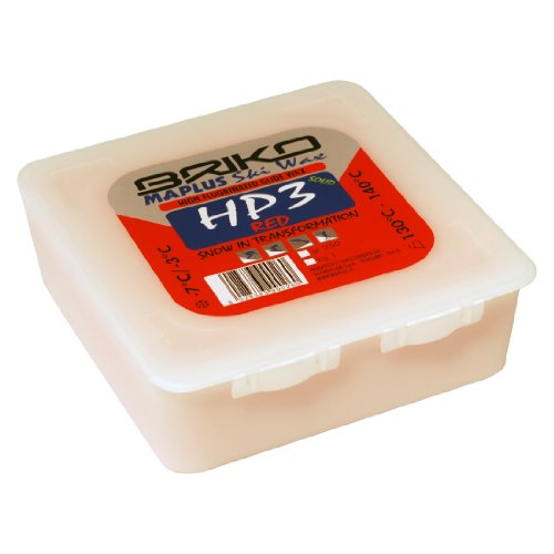 Briko-Maplus HP3 Red High Fluorinated Ski and Snowboard Solid Wax (250 Grams)
