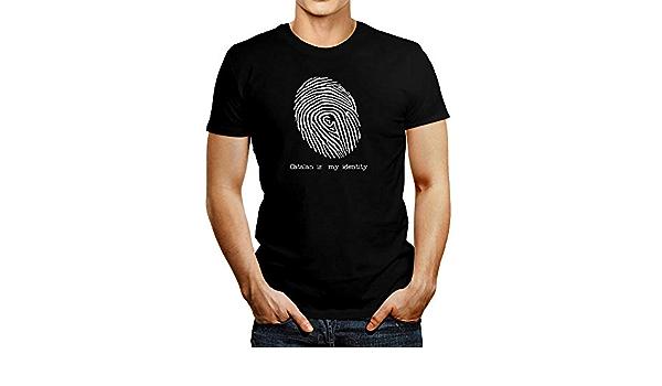 Idakoos Catalan is My Identity Camiseta de huella dactilar ...