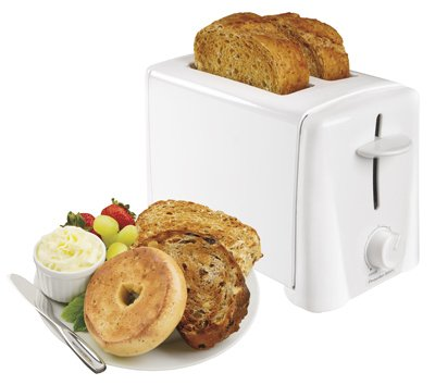 Hamilton Beach Brands 22611 2-Slice Toaster, White from Hamilton Beach Brands