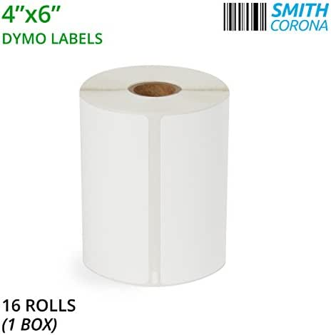 Smith Corona – 4x6 Dymo Labels – 16 Rolls Per Box (220 Labels/Roll) – Perfect for Dymo 4XL LabelWriter Printer – Made in The USA