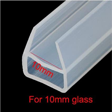 Feet 1//4 inch 6mm Frameless Weatherproof Shower Door Seal Strip Silicone rubber Sweep for 1//4 inch Glass Glass Shower Door Seal Strip Clear 10 Ft , U-type