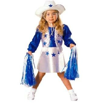 Halloween Costume Dallas Cheerleader Toddler Girl 2T (3 Person Halloween Costume Group)