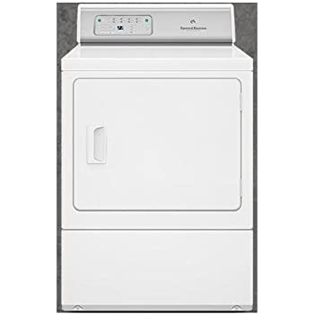 "Speed Queen ADEE8RGS 27"" ADA Compliant Button Control Front Load Electric Dryer with 7.0 Cu. Ft. Capacity Reversible Door 6 Preset Cycles Moisture Sensor Interior Light Time Remaining Display in"