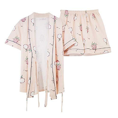 Corta Cartoon Home Cotone Allentato Donna Service Estivo Mmllse Composto Set Da In Pezzi Cute Manica Pigiama Due Color Photo RxqPzPwXt
