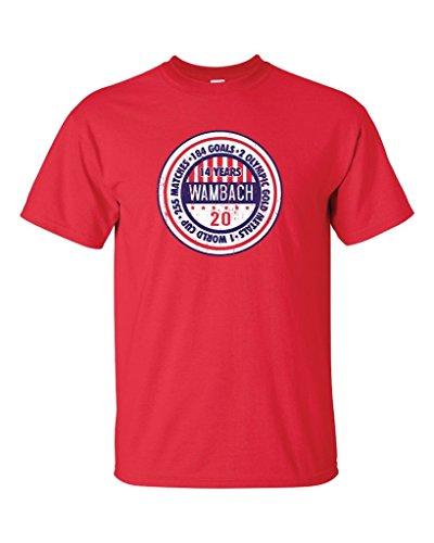 Wambach Retired T-Shirt 2XL RED A18 ()