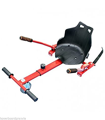 Asiento silla kart patinete eléctrico color rojo - HOVERKART - Adaptable a todos los tamaños de hoverboard (65, 6, 8, 85, 10 pulgdas), robusto, ...