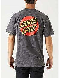 742a9e25eb4 Santa Cruz Mens Classic Dot Regular Short-Sleeve Shirt Medium Charcoal  Heather
