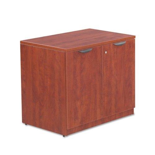Alera VA613622MC Valencia Series 35 by 22 by 29-1/2-Inch Storage Cabinet with Adjustable Shelf, Medium Cherry