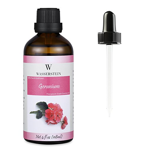 Wasserstein 4oz Geranium Therapeutic Grade Essential Oil, 100% Pure & Natural