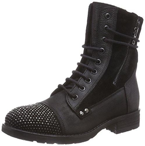 Clarks Moscow Dime - Botas de motociclista de cuero mujer Negro (Black Leather)